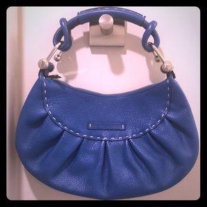 Blue Leather BCBG MAXAZRIA Purse